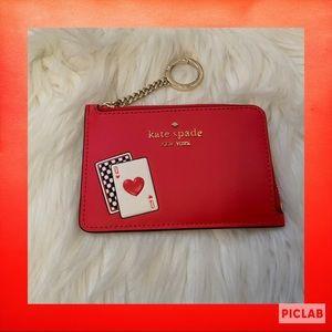 Kate Spade Lucky Draw Medium L-Zip Card Holder